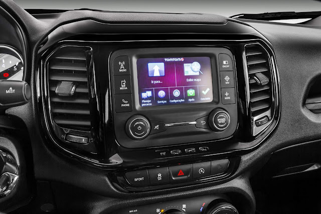 Fiat Toro 2017 2.4 Flex Automática - sistema multimídia