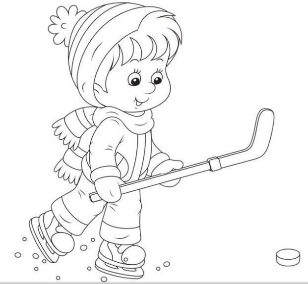 Jocurile Copiilor Iarna Planse De Colorat Imagini