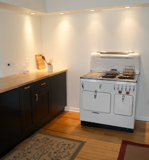 White Chambers Stove highback in Lake Geneva, Wisconsin.