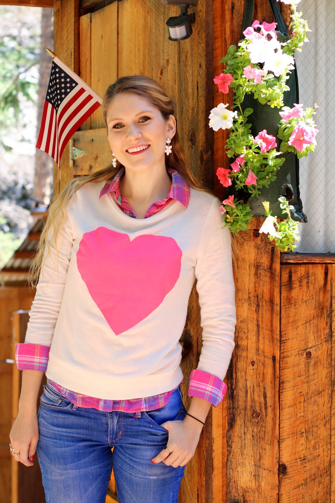 Love this cute heart sweater!