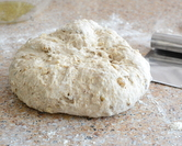... until finally it is real dough, full and heavy, ready to rise