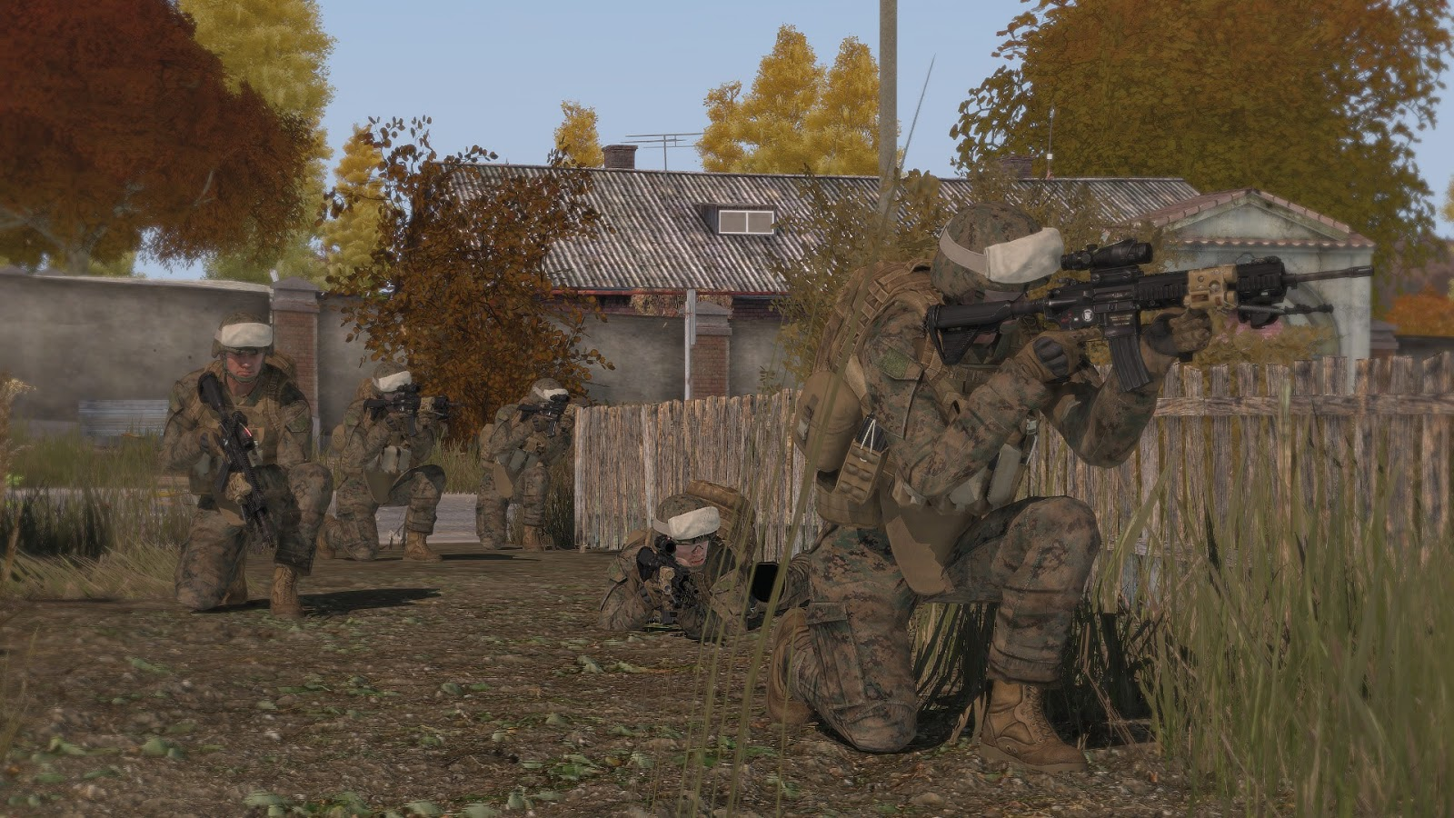 a quick scenario featuring a us marines company devoid of support weapons and indirect fire support