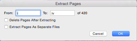adobe acrobat pro 2017 extract pages