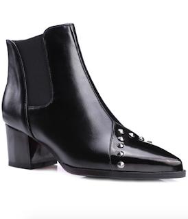 bottines noires à clous dresslily