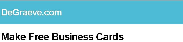 DeGraeve.com Make Free Business Cards