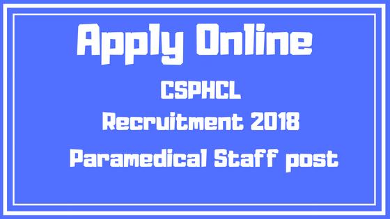 CSPHCL 2018 Recruitment Line Attendant Post