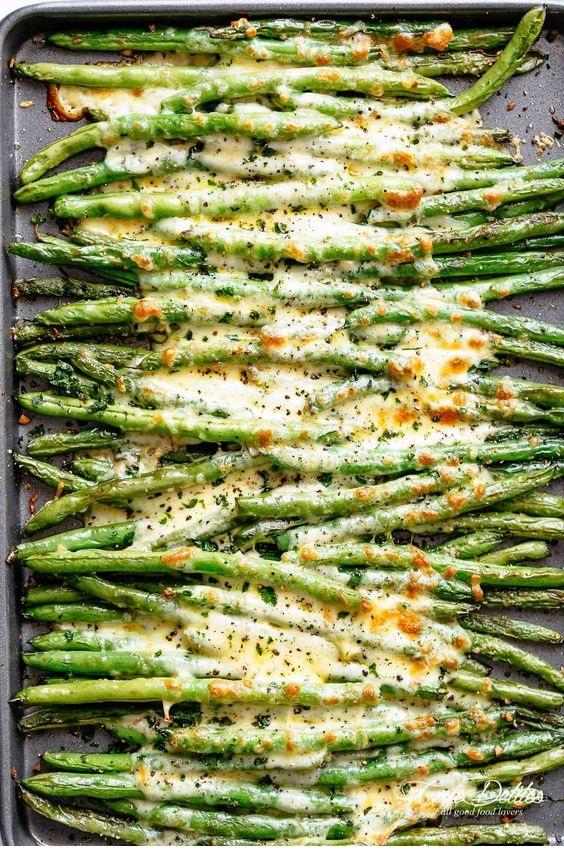 Cheesy Garlic Green Beans
