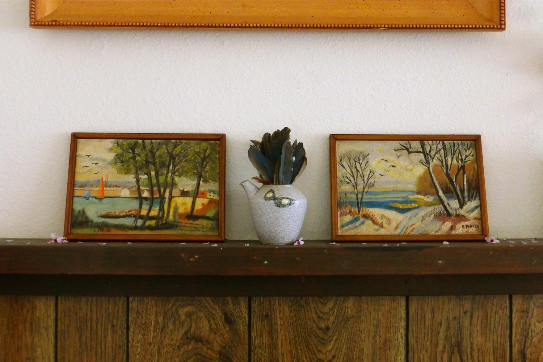 vintage landscape paintings, landscape paintings, miniature landscape paintings, vintage miniature landscape paintings
