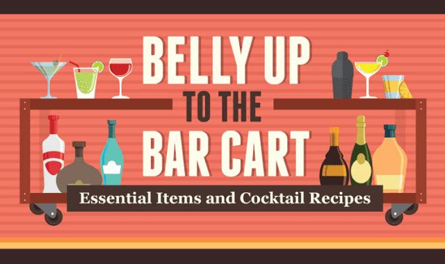 Belly Up to the Bar Cart: Essential Items and Cocktail Recipes