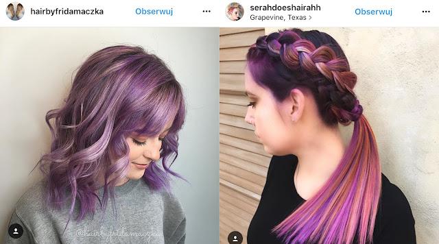 fioletowe włosy zdjęcia