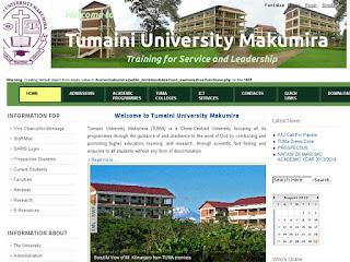 List of programmes offered by Tumaini University Makumira (TUMA)-ARUSHA