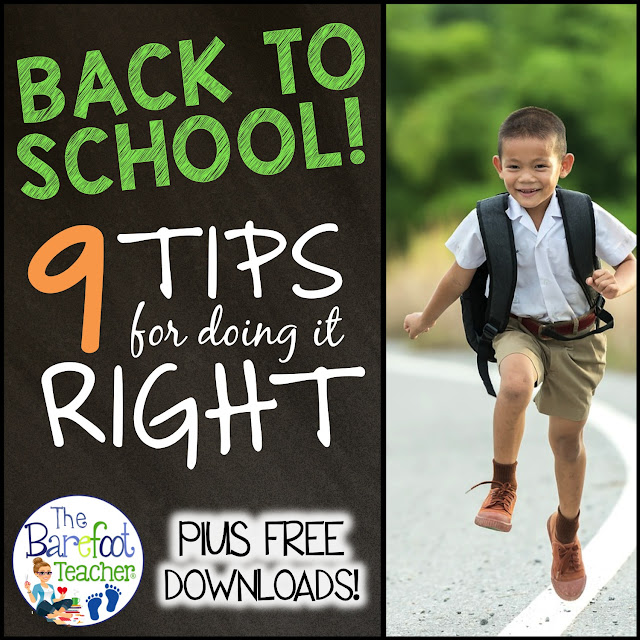 Back to school is always a stressful time for teachers and students, but it doesn't have to be! I'm going to give you nine tips on how to do it right. Plus, I'll share many activities and resources that you can download for FREE to use with your Preschool, Kindergarten, or First Grade kiddos.