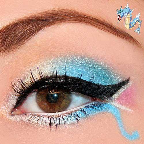 maquillaje ojos pokemon go : Gyarados