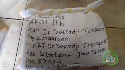Benih padi Trisakti pesanan JAROT H.N Klaten, Jateng
