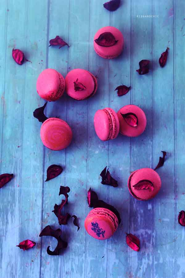 macarons de fresas -kidsandchic-