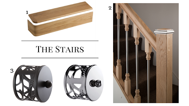 the stairs, end cap, stairklad, spindles