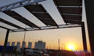 Colocaron los paneles solares en el parque Hipódromo
