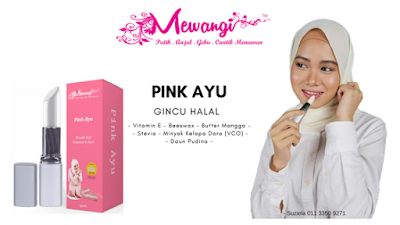 Gincu Halal  Mewangi - Pink Ayu