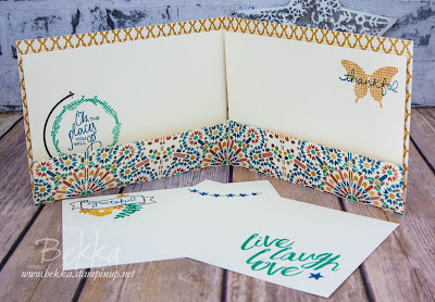 An Expandable Gratitude Journal Made Using Stampin' Up! UK Supplies which you can buy here