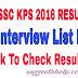 WBSSC KPS RESULT 2016 INTERVIEW LIST PDF DOWNLOAD