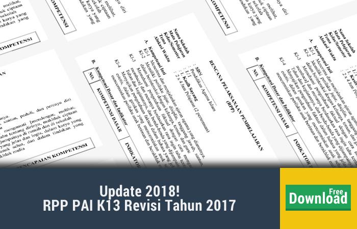 RPP PAI KEMENAG K13 REVISI 2017
