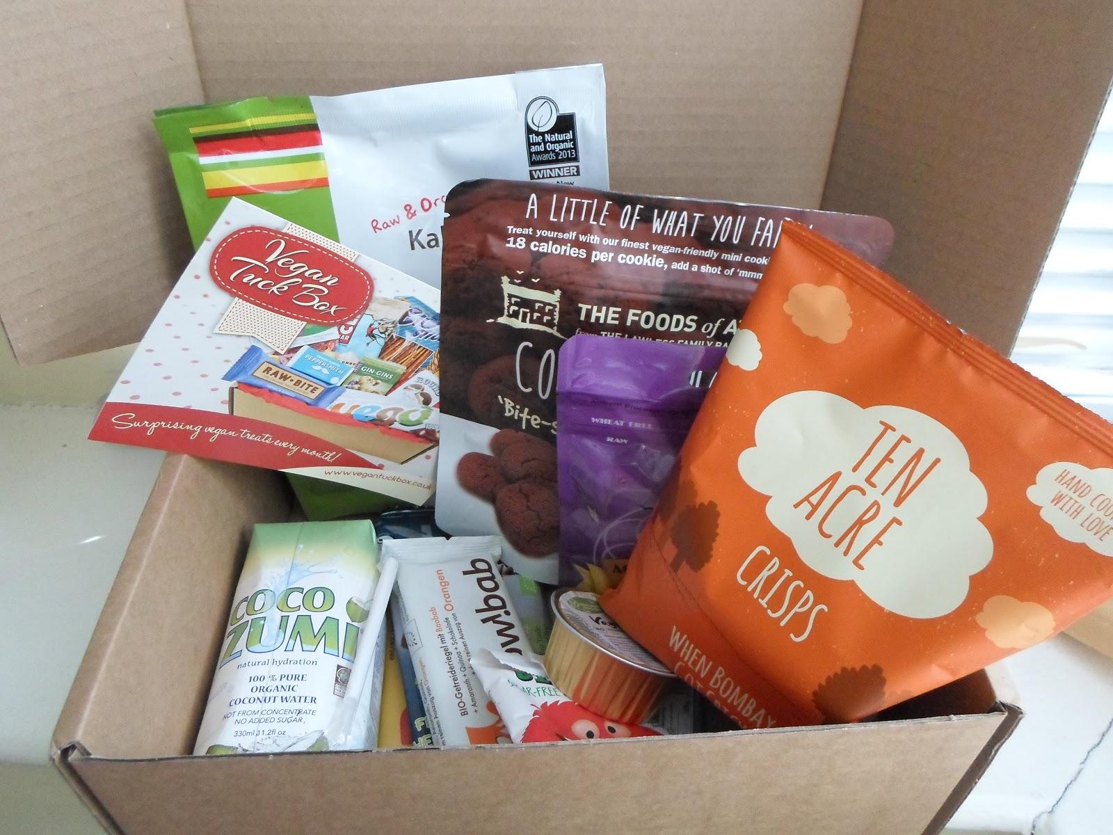 vegan tuck box subscription service