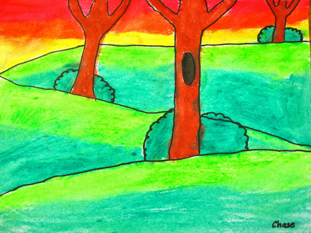 Background Middle Ground Foreground Art Lesson Elementary