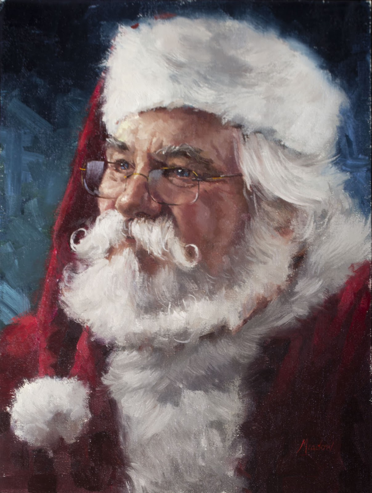 Santa Claus Canvas Paintings