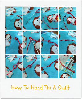 How To Hand Tie A Quilt [Tutorial] by www.madebyChrissieD.com