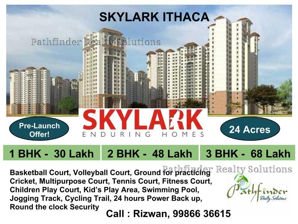 Pre-Launch of Skylark ITHACA, 30 Lakhs onwards - 1/2/3 Bedrooms - 24