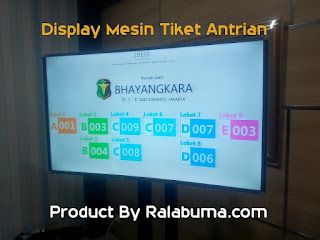 display loket antrian