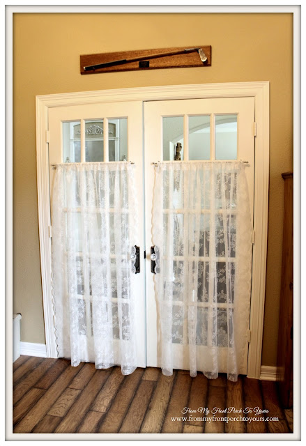 French Doors-Antique Golf Club-French Country Home Office- From My Front Porch To Yours