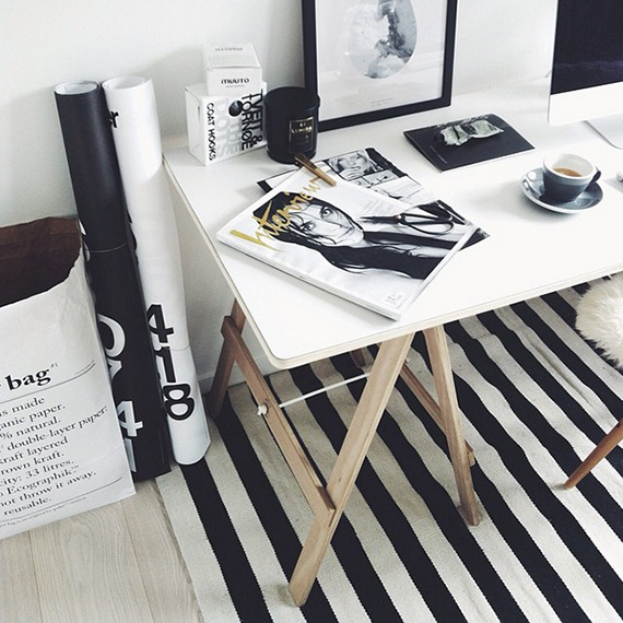 Scandinavian inspired home offices | thedesignchaser on instagram