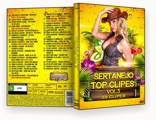 CAPA DVD – Sertanejo Top Clipes Vol.3 – ISO