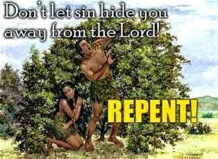 Adam hidden from God