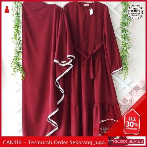 Jual RRJ004D153 Dress Muslim Nabila Wanita Syari Plus Set BMGShop