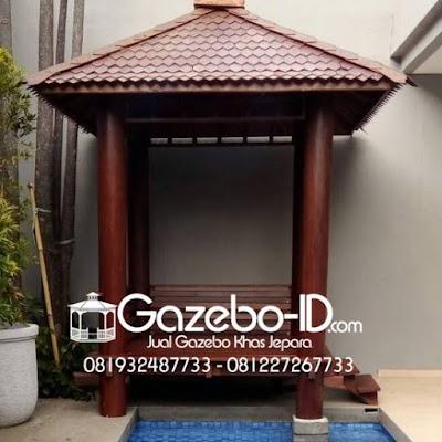 Gazebo Minimalis Kayu Glugu Jepara