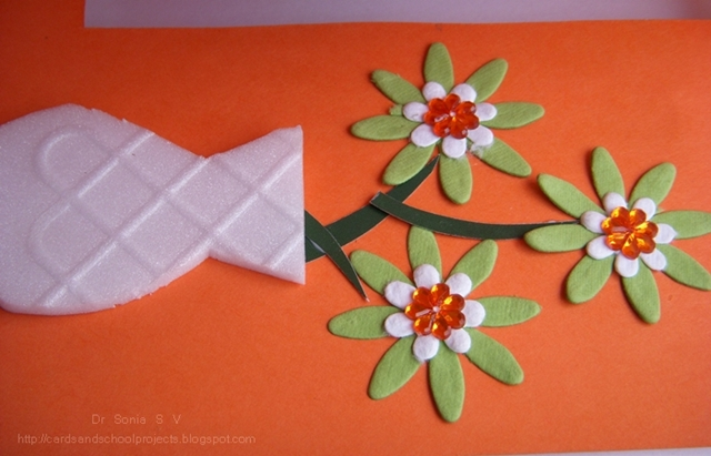 Cards Crafts Kids Projects Teachers Day Card Recycled Thermocol
