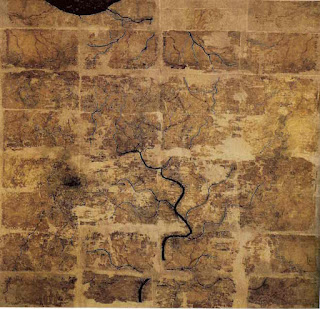 Silk map from Western Han period found in Tomb 3 of Mawangdui