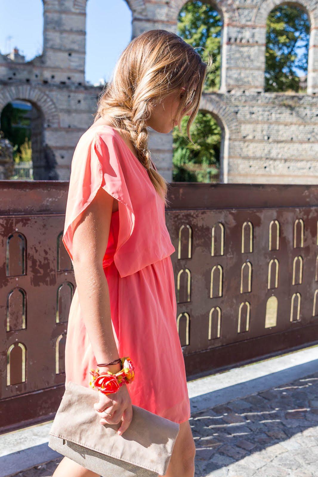 robe été couleur corail