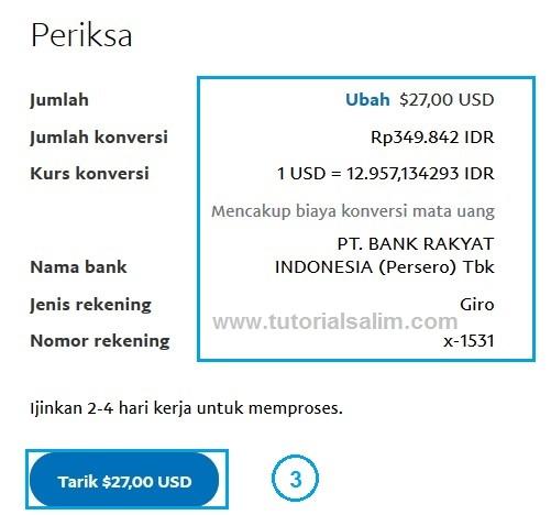 Bagaimana cara menarik uang dari rekening PayPal saya?