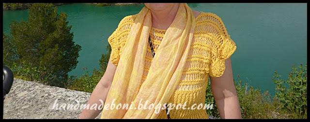 Żółta bluzka kimonowa