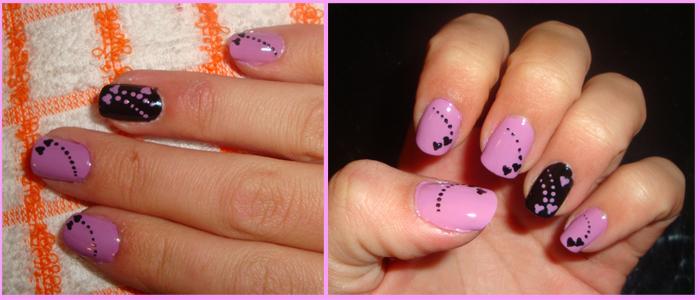 Todo Sobre Manos Y Pies Manicure Con Uñas De Color Lila
