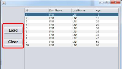 java load and remove jtable data