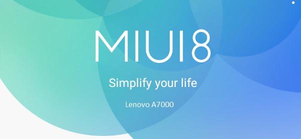 MIUI 8 Lenovo-A7000
