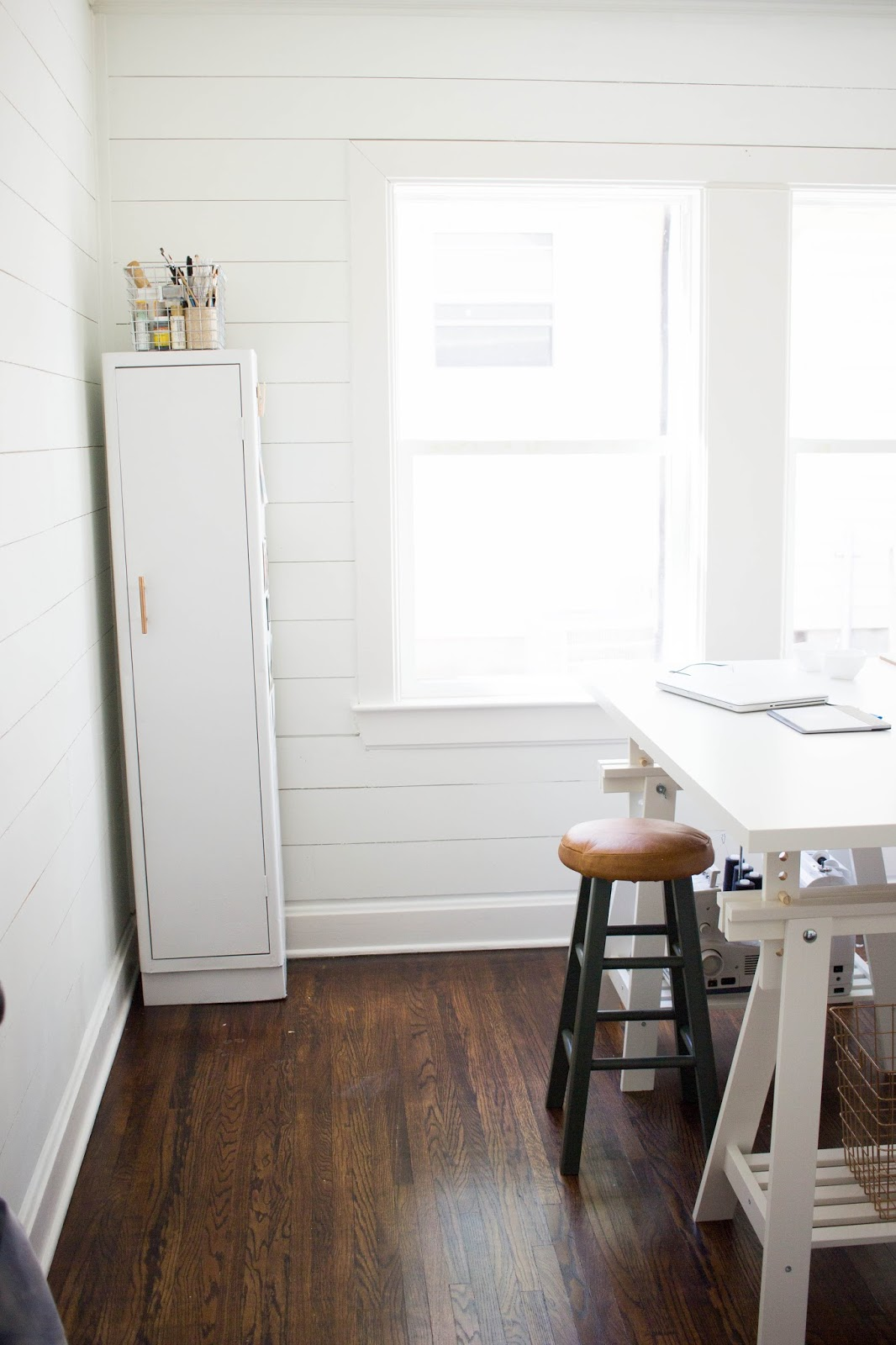 Shiplap It Is Entering Homes All Over America And More Recently My Workspace If You Watch Fixer Upper Youve Probably Seen Chip