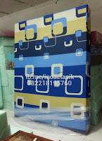 Kasur inoac motif kotak-kotak biru kuning inoactasik