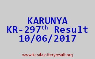 KARUNYA Lottery KR 297 Results 10-6-2017