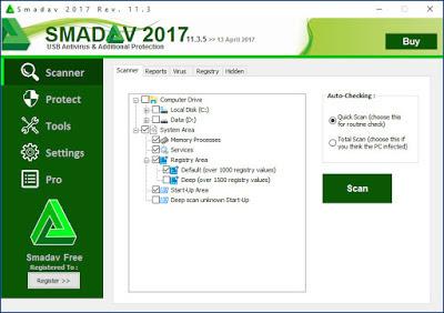 Smadav Pro Rev 11.3.5 Terbaru 2017 Full Serial Number