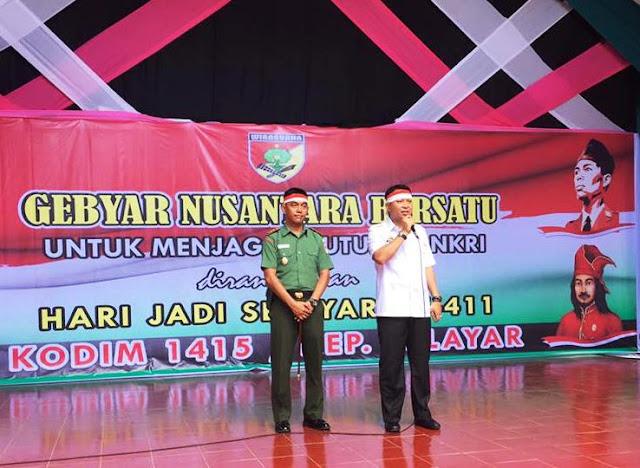 Merah Putih Warnai Pelaksanaan, Gebyar Nusantara Bersatu, Di Kab.Kep.Selayar